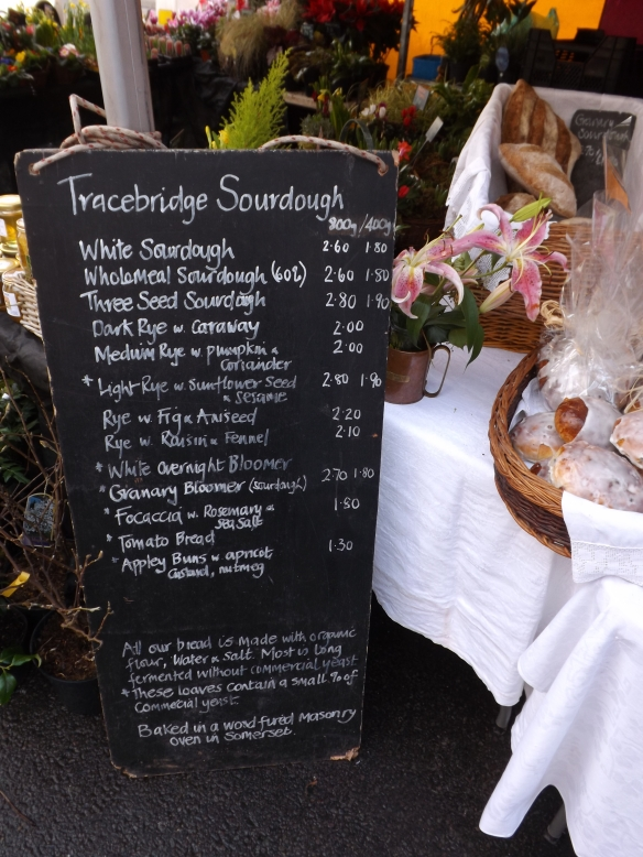 Tracebridge Sourdough price list